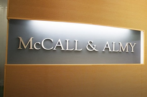 THE YEAR McCALL & ALMY BEGINS