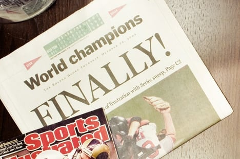 RED SOX BREAK THE CURSE AFTER 86 LONG YEARS